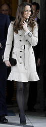 Kate Middleton is seen outside Belfast City Hall during a visit to Northern Ireland.