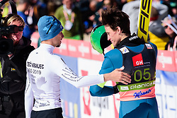 March 23, 2019 - Planica, Slovenia - Peter Prevc and Robert Kranjec of Slovenia in action during the team competition at Planica FIS Ski Jumping World Cup finals  on March 23, 2019 in Planica, Slovenia. (Credit Image: © Rok Rakun/Pacific Press via ZUMA Wire)
