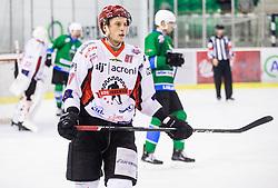 Cimzar Tadej of HDD SIJ Acroni Jesenice during ice hockey match between  HK SZ Olimpija and HDD SIJ Acroni Jesenice in 23rd Round of AHL - Alps Hockey League 2017/18, on December 16, 2017 in Hala Tivoli, Ljubljana, Slovenia. Photo by Vid Ponikvar / Sportida