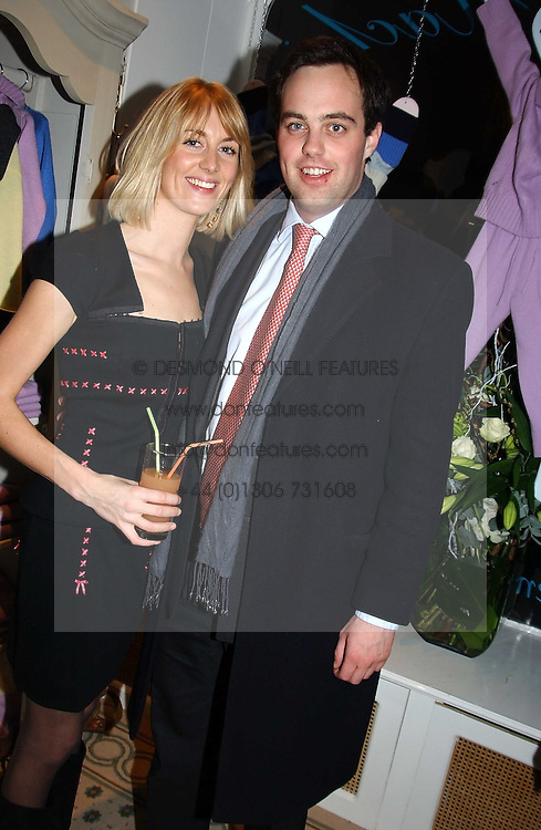 LADY EMILY COMPTON and LORD BUCKHURST at a party to celebrate the opening of children's store Chippi Hacki at 8 Motcomb Street, London, SW1 on 24th November 2004.<br />