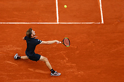 June 1, 2018 - Paris, U.S. - PARIS, FRANCE  - JUNE 01 JUN 01: DAVID GOFFIN (BEL) during the French Open on June 01, 2018 at Stade Roland-Garros in Paris, France. (Photo by Chaz Niell/Icon Sportswire) (Credit Image: © Chaz Niell/Icon SMI via ZUMA Press)