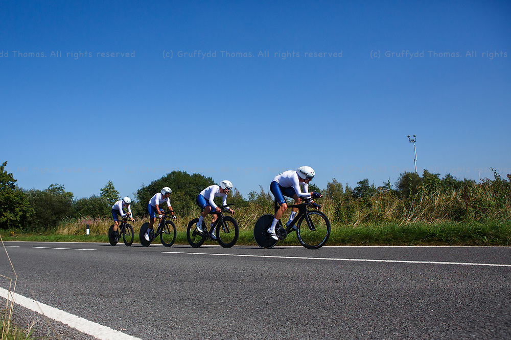 National Botanic Garden of Wales, Llanarthne, Wales, UK. Tuesday 7 September 2021.  Stage 3 of the Tour of Britain cycling race. SwiftCarbon Pro Cycling.<br /> Credit: Gruffydd Thomas/Alamy