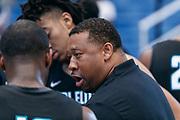 THOUSAND OAKS, CA Sunday, August 12, 2018 - Nike Basketball Academy. Melvin Hunt address team black in the huddle. <br /> NOTE TO USER: Mandatory Copyright Notice: Photo by John Lopez / Nike