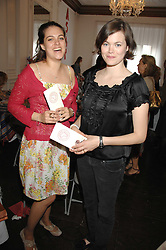 Left to right, The HON.REBECCA MACMILLAN and JASMINE GUINNESS at a lunch in aid of African Solutions To African Problems held at Il Bottaccio, 9 Grosvenor Place, London on 20th May 2008.<br />