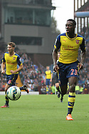 Danny Welbeck of Arsenal in action. Barclays Premier league match, Aston Villa v Arsenal at Villa Park in Birmingham on Saturday 20th Sept 2014<br /> pic by Mark Hawkins, Andrew Orchard sports photography.