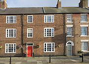 Georgian townhouses in Tynemouth, Northumberland, England