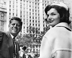 John F. Kennedy, the nation's 35th President, would have turned 100 years old on May 29, 2017. With the centennial anniversary of John F. Kennedy's birth, the former president's legacy is being celebrated across the nation. PICTURED: Oct. 12, 1961 - New York, NY, U.S. - JOHN F. KENNEDY was the 35th President of the United States, as well as the youngest. PICTURED: President Kennedy with First Lady JACKIE KENNEDY at a Broadway Ticker Tape Parade. (Credit Image: © KEYSTONE Pictures USA/ZUMAPRESS.com)