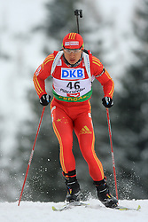 Chengye Zhang (CHN) at Men 20 km Individual at E.ON Ruhrgas IBU World Cup Biathlon in Hochfilzen (replacement Pokljuka), on December 18, 2008, in Hochfilzen, Austria. (Photo by Vid Ponikvar / Sportida)