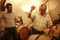 Muscadet winemaker Pierre Luneau-Papin  and his son, Pierre-Marie.Photograph by Owen Franken