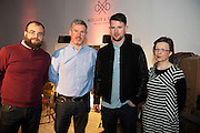 John Sean, Kieran and Helen Molloy from Molloy and Sons Weaving Donegal at The Jameson The Black Barrel Craft Series  at Old printing works, Market Street with music by Corner boy.  Photo:Andrew Downes