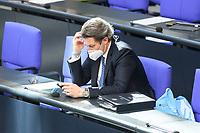 05 MAR 2021, BERLIN/GERMANY:<br /> Andreas Scheuer, CSU, Bundesverkehrsminister, waehrend einer Bundestagsdebatte, Plenum, Reichstagsgebaeude, Deutscher Bundestag<br /> IMAGE: 20210305-01-0<br /> KEYWORDS: Maske, Mundschutz, Covid-19, Corona