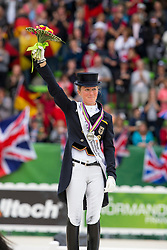 Helen Langehanenberg and Damon Hill NRW winning silver during the Grand Prix Special - Grand Prix Special Dressage - Alltech FEI World Equestrian Games™ 2014 - Normandy, France.<br /> © Hippo Foto Team - Leanjo de Koster<br /> 25/06/14