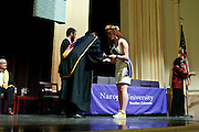 SHOT 5/10/15 3:12:43 PM - Naropa University Spring 2015 Commencement ceremonies at Macky Auditorium in Boulder, Co. Sunday. Parker J. Palmer, a world-renowned author and activist known for his work in education and social change, delivered the commencement speech to more than 300 graduate and undergraduate students along with Naropa faculty and graduate's family members. Naropa University is a private liberal arts college in Boulder, Colorado founded in 1974 by Tibetan Buddhist teacher and Oxford University scholar Chögyam Trungpa. (Photo by Marc Piscotty / © 2014)
