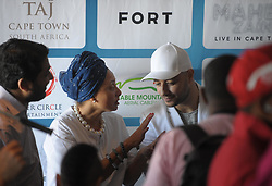 Cape Town - 181025 - Marlene le Roux talks to Maher Zain. Maher Zain visits the top of Table Mountain where he held a press conference prior to his Cape Town concert. Swedish singer, songwriter, and music producer of Lebanese origin, Maher Zain is arguably the biggest name in the Islamic Music genre. Maher will be accompanied by his international band of musicians from Egypt, Spain, Lebanon, Belgium, Netherlands, UK and the Cape Town Philharmonic Orchestra. Photograph: Armand Hough / African News Agency (ANA)