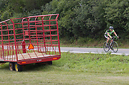 Goshen, New York -  A riders pedals down Maple Avenue during the Tour de Goshen charity bicycle ride on Aug. 16, 2014.