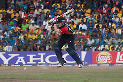 ©London News Pictures. 26/03/2011..Eoin Morgan drives on the offside. Photo credit should read Asanka Brendon Ratnayake/London News Pictures