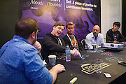 The Linux Foundation hosts its Cloud Foundry Summit 2015 at the Santa Clara Convention Center in Santa Clara, California, on May 12, 2015, (Stan Olszewski/SOSKIphoto)