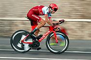 Ilnur Zakarin (RUS - Team Katusha - Alpecin) during the UCI World Tour, Tour of Spain (Vuelta) 2018, Stage 1, individual time trial, Malaga - Malaga (8km) in Spain, on August 26th, 2018 - Photo Luis Angel Gomez / BettiniPhoto / ProSportsImages / DPPI