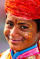 Young boy dancing, Uttar Pradesh, India