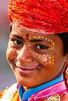 Young boy dancing, Uttar Pradesh, India