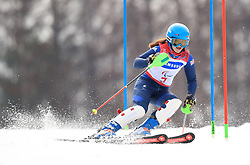 Great Britain's Menna Fitzpatrick on her way to gold in the Women's Slalom, Visually Impaired at the Jeongseon Alpine Centre during day nine of the PyeongChang 2018 Winter Paralympics in South Korea.