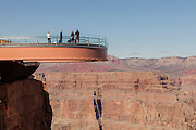 Skywalk in the Grand Canyon West Hualapai Nation Reservation, AZ.