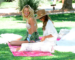 Victoria Secret Models Jasmine Tookes and Romee Strijd Attend Coachella Music Festival in the Indio Desert in California. 14 Apr 2017 Pictured: Romee Strijd, Jasmine Tookes. Photo credit: All Access / MEGA TheMegaAgency.com +1 888 505 6342