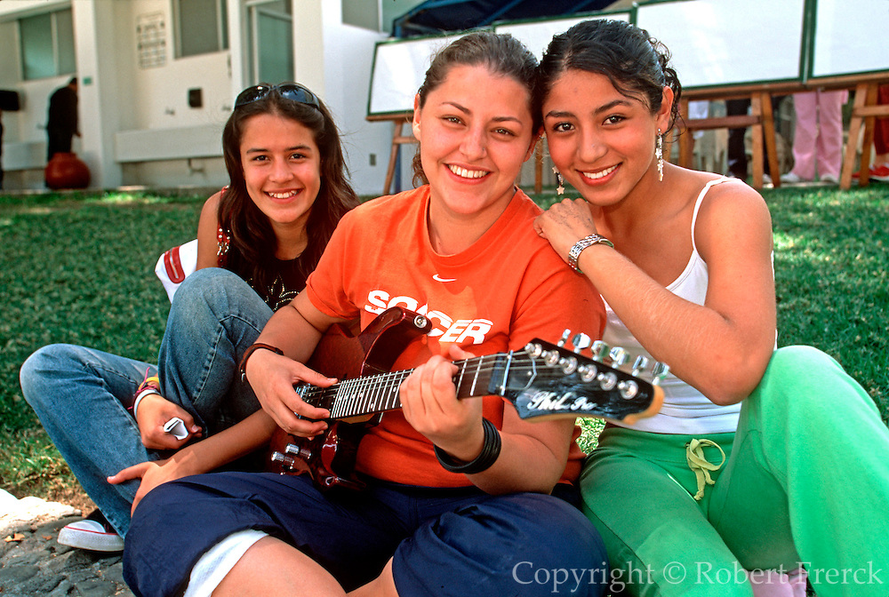 MEXICO, EDUCATION highschool students playing the guitar