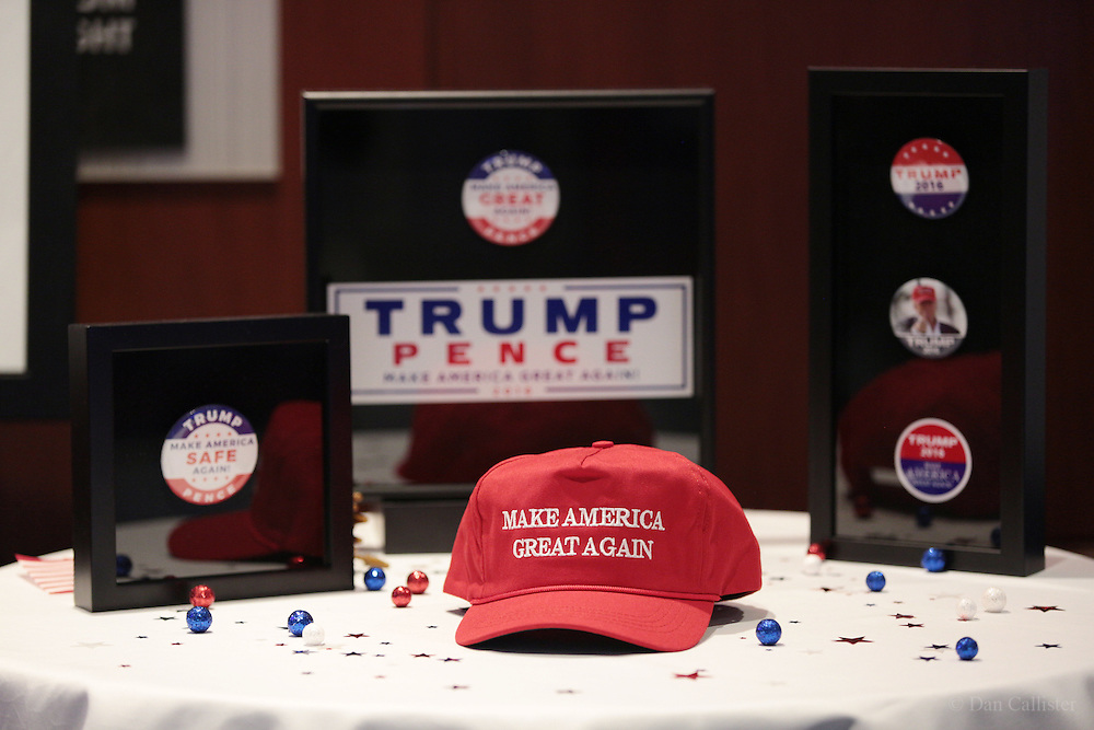 Photograph by © Dan Callister <br /> www.dancallister.com<br /> The Donald Trump Election Party November 08, 2016 as they await the election results at The Hilton Hotel in New York City.<br /> [Non-Exclusive]<br /> [ Pictures]<br /> **© DAN CALLISTER. FEE MUST BE AGREED BEFORE USAGE. NO WEB USAGE WITHOUT APPROVAL. ALL RIGHTS RESERVED** <br /> Tel: +1 347 649 1755<br /> Mob: +1 917 589 4976<br /> E-mail: dan@dancallister.com<br /> Web:  www.dancallister.com<br /> 3149 41st St, #3rd Floor, Astoria, NY 11103 USA<br /> Photograph by © DAN CALLISTER  www.dancallister.com