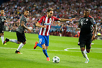 Atletico de Madrid's player Juanfran Torres and Bayern Munich's player Arturo Vidal and Jerome Boateng during match of UEFA Champions League at Vicente Calderon Stadium in Madrid. September 28, Spain. 2016. (ALTERPHOTOS/BorjaB.Hojas)