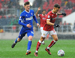 Jamie Paterson of Bristol City under pressure from Callum Connolly of Ipswich Town - Mandatory by-line: Nizaam Jones/JMP - 17/03/2018 - FOOTBALL - Ashton Gate Stadium- Bristol, England - Bristol City v Ipswich Town - Sky Bet Championship