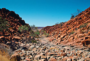 Deep gorge in Karratha,  Australia, an Aboriginal heritage site.