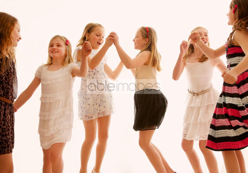 Group of Girls Dancing