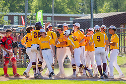 04 June 2021:   Heyworth Hornets at LeRoy Panthers in LeRoy IL<br /> <br /> 1 homerun reception<br /> <br /> (Photo by Alan Look)