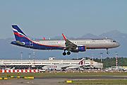 VP-BKR Aeroflot Airbus A321 Photographed at Malpensa airport, Milan, Italy