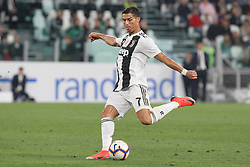 September 26, 2018 - Turin, Piedmont, Italy - Cristiano Ronaldo (Juventus FC) in action during the Serie A football match between Juventus FC and Bologna FC at Allianz Stadium on September 26, 2018 in Turin, Italy. .Juventus won 2-0 over Bologna. (Credit Image: © Massimiliano Ferraro/NurPhoto/ZUMA Press)