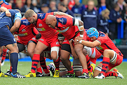 Chris Brooker (L) Soane Tonga'uiha (C) and Olly Robinson (R) of Bristol Rugby - Mandatory by-line: Ian Smith/JMP - 20/08/2016 - RUGBY - BT Sport Cardiff Arms Park - Cardiff, Wales - Cardiff Blues v Bristol Rugby - Pre-season friendly