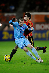 17-11-2009 VOETBAL: JONG ORANJE - JONG SPANJE: ROTTERDAM<br /> Nederland wint met 2-1 van Spanje / Erik Pieters en Javi Martinez<br /> ©2009-WWW.FOTOHOOGENDOORN.NL