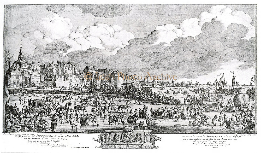 Ice Fair in Rotterdam 1763.