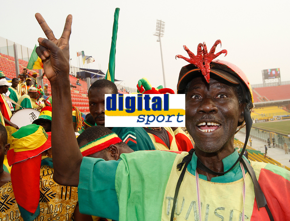 Photo: Steve Bond/Richard Lane Photography.<br />Ivory Coast v Mali. Africa Cup of Nations. 29/01/2008. Mali Eagles fan with appropriate attachments