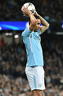 Manchester City Defender, Danilo (3) during the Champions League match between Manchester City and FC Basel at the Etihad Stadium, Manchester, England on 7 March 2018. Picture by Mark Pollitt.