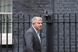 London, June 27th 2017. Minister of State for Immigration Brandon Lewis leaves the weekly UK cabinet meeting at 10 Downing Street in London.