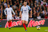 England Tottenham Hotspur midfielder Eric Dier (8) hunts the ball down in the middle of the pitch during the International Friendly match between England and Brazil at Wembley Stadium, London, England on 14 November 2017. Photo by Simon Davies.