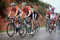Sykkel<br /> UCI VM 2014<br /> Ponferrada Spania<br /> 28.09.2014<br /> Foto: PhotoNews/Digitalsport<br /> NORWAY ONLY<br /> <br /> Tom Dumoulin (Holland / Team - GIANT - Shimano) - Bauke Mollema (Ned - Belkin-Pro Cycling Team) - Edvald Boasson Hagen (Norway / Team Sky)   pictured during  Championnats du Monde UCI CL / UCI RR World Championships (Men Elite) - Road