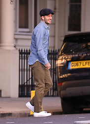 EXCLUSIVE David Beckham is all smiles as he is seen out in Chelsea London in his Bentley 4x4<br /><br />12 November 2018.<br /><br />Please byline: Vantagenews.com