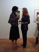 Sabrina Venezia and Alexandra Maude-Roxby. Francesco Clemente private view. Anthony d'Offay . London. 1 March 2001. © Copyright Photograph by Dafydd Jones 66 Stockwell Park Rd. London SW9 0DA Tel 020 7733 0108 www.dafjones.com