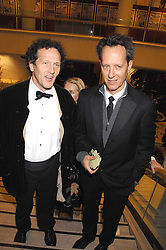 Left to right, MONTY DON and RICHARD E GRANT at the Feast of Albion a sumptious locally-sourced banquet in aid of The Soil Association held at The Guildhall, City of London on 12th March 2008.<br />