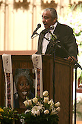 Congressman Charles Rangel at the Celebration of the Life and Legacy of Dr. Barabara Ann Teer at the Memorial Service held at The Riverside Church in Harlem, NY on Monday, July 28, 2008