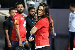 May 8, 2018 - Jaipur, Rajasthan, India - Kings XI Punjab co-owner & Bollywood actress Preity Zinta during the IPL T20 match against Rajasthan Royals at Sawai Mansingh Stadium in Jaipur,Rajasthan,India on 8th May,2018.(Photo By Vishal Bhatnagar/NurPhoto) (Credit Image: © Vishal Bhatnagar/NurPhoto via ZUMA Press)