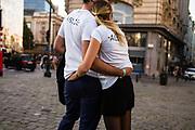 Brussels, BELGIUM, October 7, 2018  streetphotography workshop BSPF